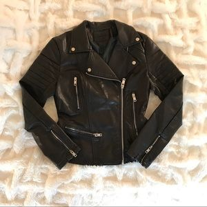 BlankNYC Faux Leather Jacket - Chocolate Brown